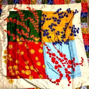 Escada 4 Flowers Large Silk Scarf